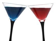 De glazen van de cocktail die op wit worden geïsoleerda royalty-vrije stock foto