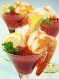 De Glazen van de Cocktail van garnalen Royalty-vrije Stock Foto's