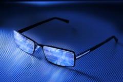 De Glazen van de computer Stock Foto