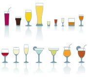 De glazen van de drank Stock Afbeelding