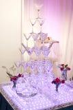 De glazen van de huwelijkschampagne Stock Afbeelding
