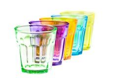 De glazen van de kleur Stock Afbeeldingen