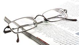 De glazen van de lezing stock foto