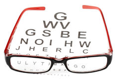 De glazen van de lezing met ooggrafiek stock afbeelding