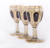 De glazen van de luxe royalty-vrije stock afbeeldingen