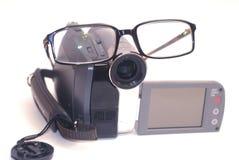 De glazen van de videocamera Stock Afbeeldingen