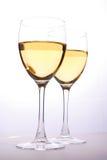 De glazen van de wijn Stock Fotografie