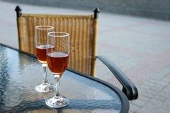 De glazen van de wijn. Stock Fotografie