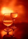De glazen van de wijn. Royalty-vrije Stock Foto