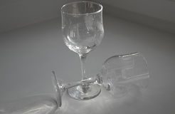 De glazen van de wijn Royalty-vrije Stock Afbeelding