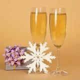 De glazen van de wijn met champagne royalty-vrije stock foto