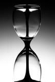 De Glazen van de Wijn van het Glas van het uur royalty-vrije stock afbeelding