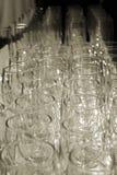 De Glazen van de wijn van hierboven Stock Foto