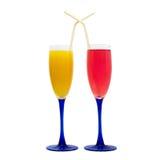 De glazen van de wijn, verschillende kleuren Royalty-vrije Stock Afbeelding