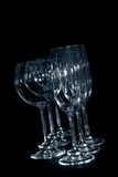 De glazen van de wijnstok en van de champagne royalty-vrije stock afbeelding