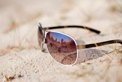 De Glazen van de zon stock foto's