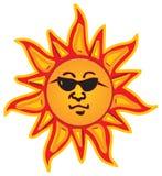 De glazen van de zon royalty-vrije illustratie