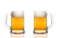 De glazen van het bier Stock Foto