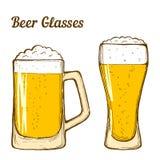 De glazen van het bier Stock Afbeelding