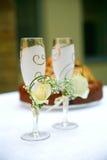 De glazen van het huwelijk Royalty-vrije Stock Afbeeldingen
