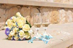 De glazen van het huwelijk Royalty-vrije Stock Afbeelding