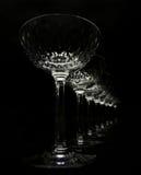 De glazen van het kristal royalty-vrije stock afbeelding