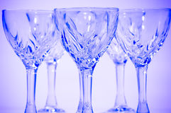De glazen van het kristal Stock Afbeeldingen