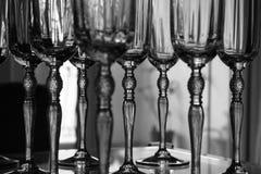 De Glazen van het kristal Stock Foto's