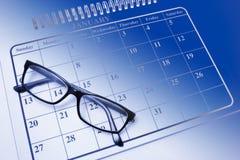 De Glazen van het oog op Kalender Royalty-vrije Stock Afbeeldingen
