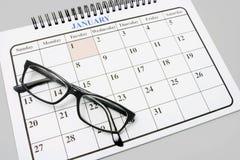 De Glazen van het oog op Kalender Royalty-vrije Stock Fotografie