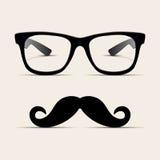 De glazen van Hipster, mens Hipsta. Vector Royalty-vrije Stock Afbeelding