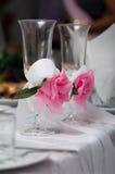 De glazen van huwelijken Stock Foto