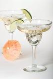 De glazen van martini met cocktails Stock Fotografie