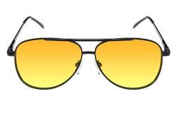 De glazen van nachtbestuurders met gele lens Royalty-vrije Stock Fotografie