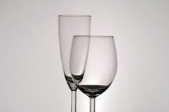 De Glazen van Stemware stock foto's