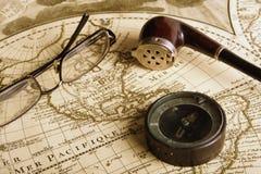 De glazenpijp van het kompas Royalty-vrije Stock Afbeeldingen