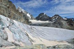 De gletsjer en de Deuk Blanche van Stockji Stock Foto's