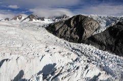 De Gletsjer Nieuw Zeeland van de vos Stock Afbeeldingen