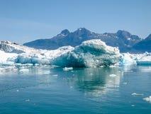 De gletsjer ontmoet het overzees stock afbeeldingen