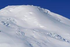 De gletsjer op Elborus stock afbeeldingen