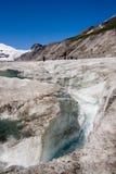 De gletsjer Pasterze (van Grossglockner) in Alpen Stock Afbeeldingen