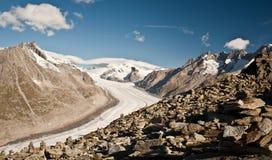 De gletsjer van Aletsch royalty-vrije stock afbeeldingen