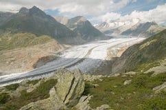 De gletsjer van Aletsch stock afbeelding