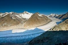 De gletsjer van Aletsch stock fotografie