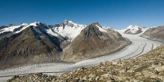 De gletsjer van Aletsch royalty-vrije stock foto
