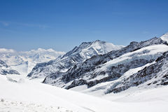 De gletsjer van Aletsch royalty-vrije stock afbeelding