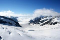 De Gletsjer van Aletsch, Zwitserland Stock Fotografie