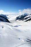 De Gletsjer van Aletsch, Zwitserland Stock Afbeelding