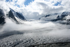De Gletsjer van Aletsch, Zwitserland Royalty-vrije Stock Afbeelding