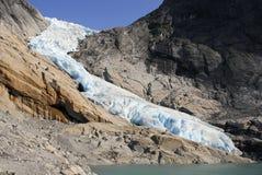 De Gletsjer van Briksdal, Noorwegen Royalty-vrije Stock Afbeeldingen